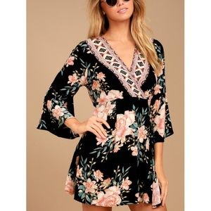 Billabong Divine Floral Wrap Dress